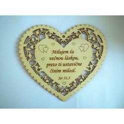 #Márnotratný prorok 664 Srdce čipkované - milujem ťa večnou láskou